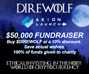 Take part in the Direwolf fundraiser and get a 10% discount on your tokens!
