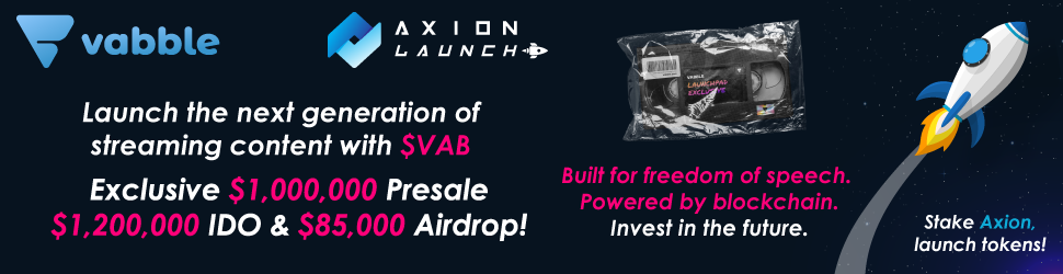 Join the exclusive Vabble presale at a huge discount!